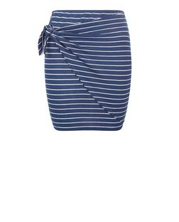 Heartbreak Blue Stripe Tie Front Skirt | New Look