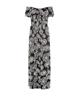 Mela Black Floral Print V-Neck Maxi Dress | New Look