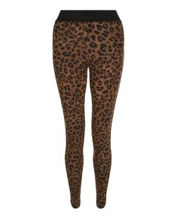 Brown Animal Print Leggings  | New Look