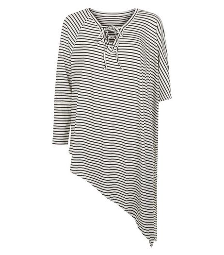 Anita and Green White Stripe Asymmetric Top | New Look