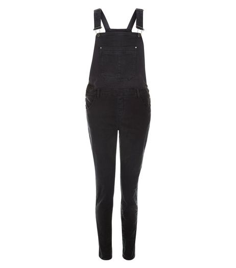 Anita and Green Black Pocket Front Dungarees | New Look
