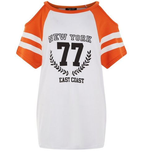 Teens White Contrast 77 Print Cold Should T-Shirt | New Look