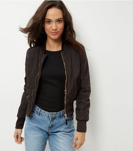 Brave Soul Black Bomber Jacket | New Look