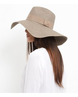 Mink Contrast Trim Floppy Hat | New Look
