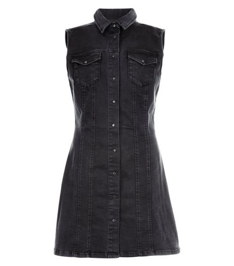 Anita and Green Black Sleeveless Denim Dress | New Look