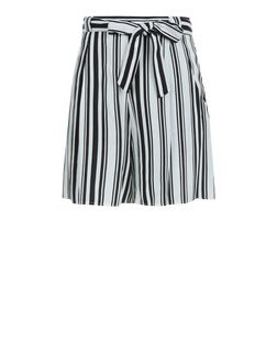 Teens White Stripe Belted Shorts | New Look