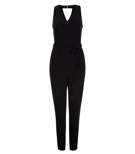Tall Black V Neck Jumpsuit | New Look