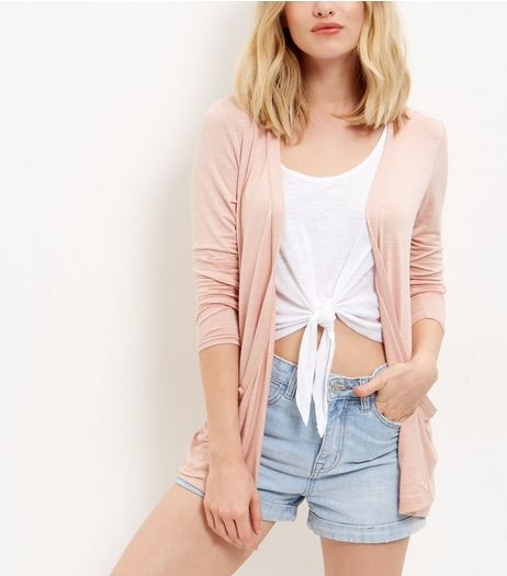 Mid Pink Boyfriend Cardigan | New Look