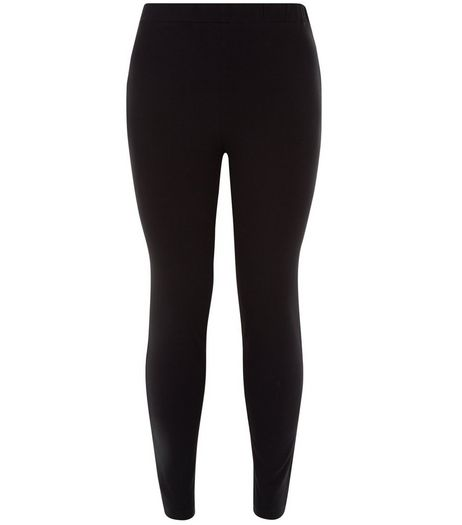 Curves Black Stripe Leggings | New Look