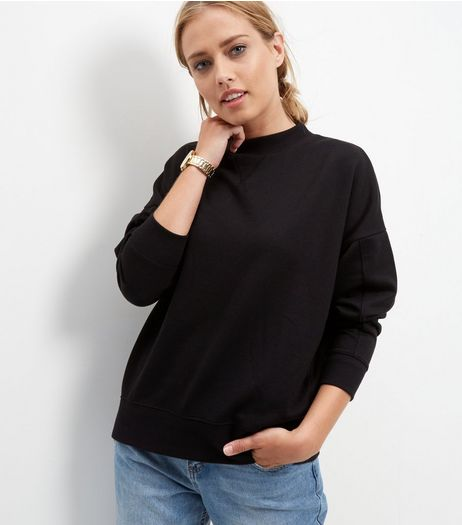 Black Balloon Sleeve Sweater | New Look