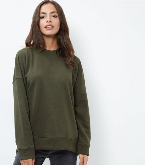 Green Balloon Sleeve Sweater | New Look