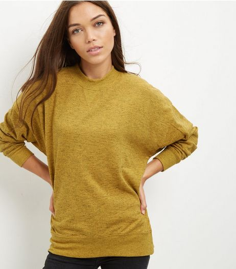Mustard Balloon Sleeve Sweater  | New Look