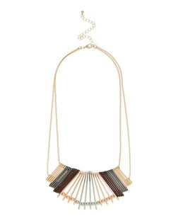 Gold Multi Bar Necklace | New Look