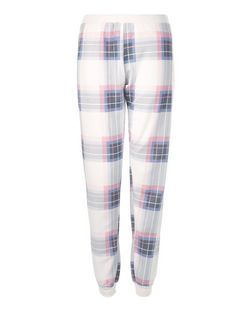 White Check Cuffed Pyjama Bottoms | New Look