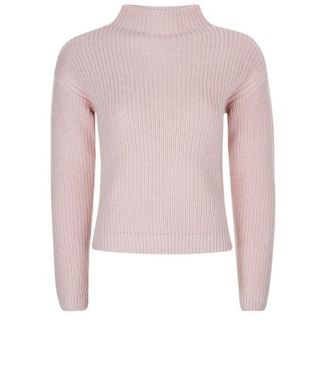 Teens Pink Funnel Neck Jumper | New Look