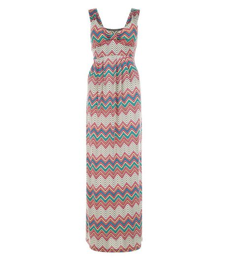 Mela Multicoloured Zig Zag Print Maxi Dress | New Look
