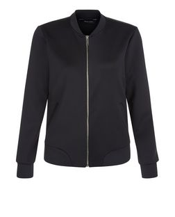 Black Scuba Bomber Jacket | New Look