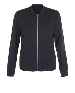 Navy Scuba Bomber Jacket  | New Look