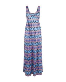 Mela Pink Aztec Print Maxi Dress | New Look