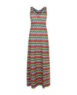 Mela Multicoloured Chevron Print Maxi Dress | New Look
