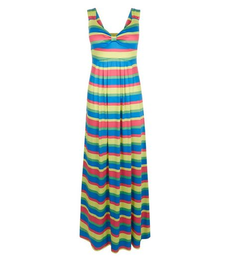 Mela Multicoloured Stripe Maxi Dress | New Look