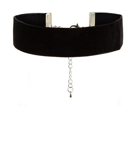 Black Velvet Wide Choker  | New Look