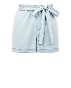 JDY Pale Blue Belted Shorts | New Look