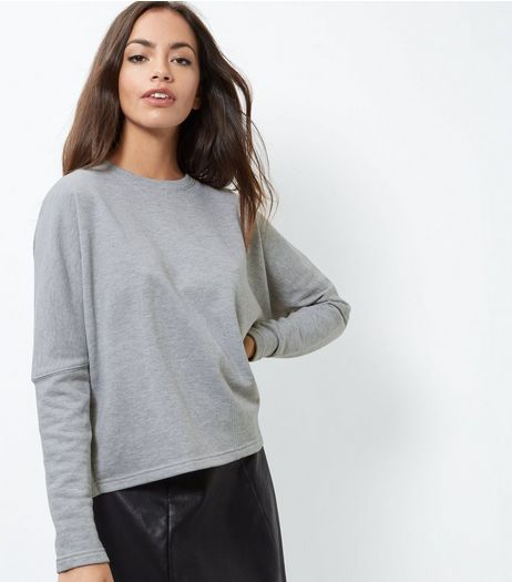 Grey Cropped Sweater | New Look