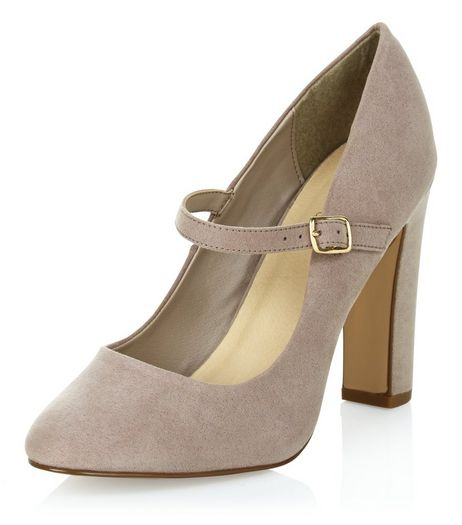 Light Brown Comfort Suedette Block Heels | New Look