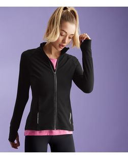 Black Reflective Trim Sports Jacket | New Look