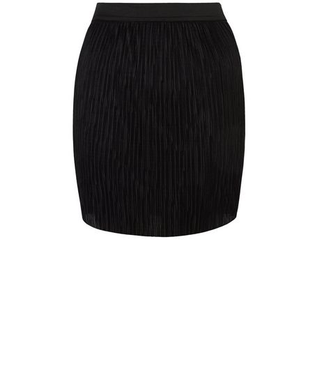 Teens Black Ribbed Skirt | New Look