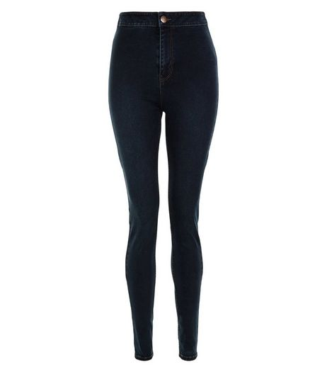 Tall 36in Navy High Waist Super Skinny Jeans | New Look