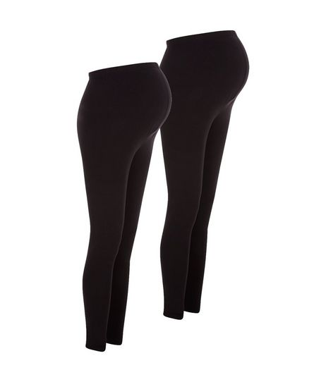 Maternity 2 Pack Black Leggings | New Look