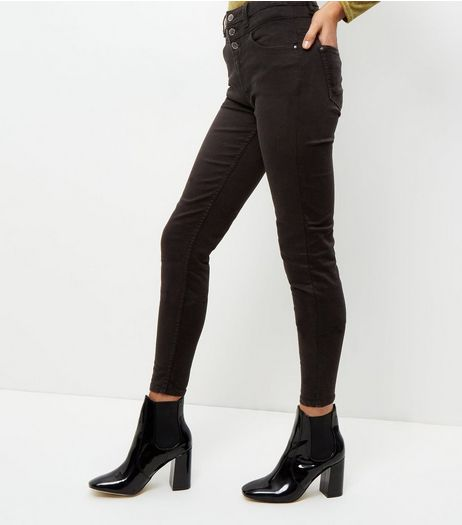 Tall 38in Black High Waisted Skinny Jeans  | New Look