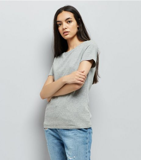 Grey Crew Neck T-Shirt | New Look