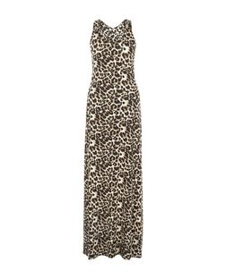 Mela Brown Leopard Print Maxi Dress | New Look