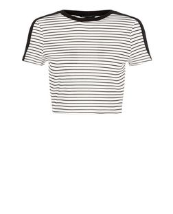 Black Stripe Crop Top  | New Look