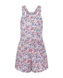 Multicoloured Ditsy Floral Pinafore Playsuit | New Look