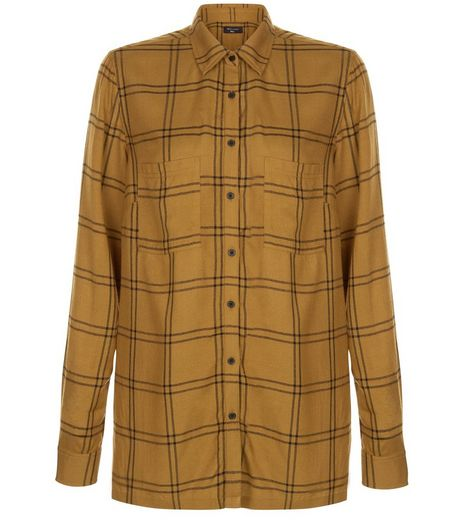Tall Olive Green Grid Check Shirt | New Look