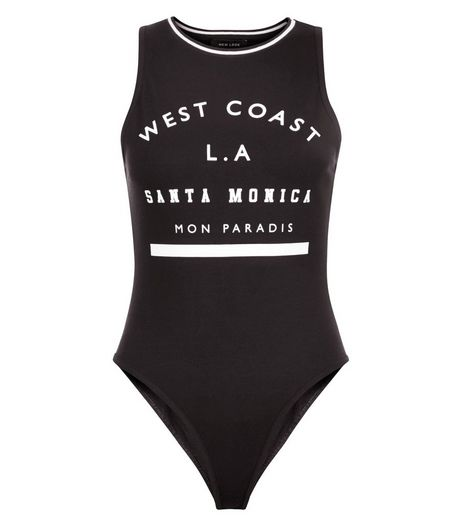 Black West Coast Bodysuit  | New Look