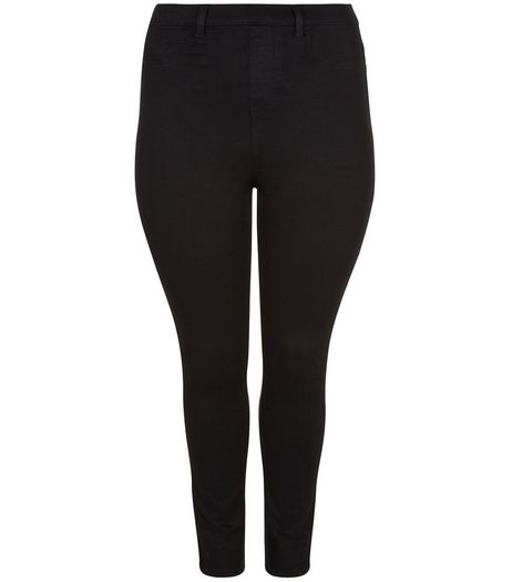 Curves Black 5 Pocket Jeggings | New Look