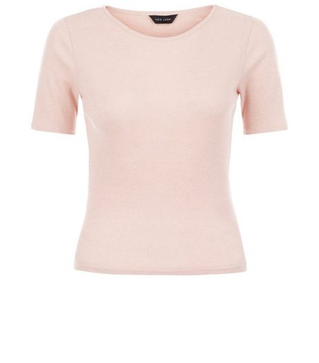 Mid Pink Ribbed T-Shirt  | New Look