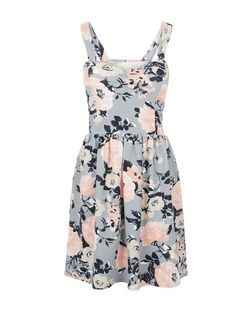 Cameo Rose Pink Floral Print Bustier Dress | New Look