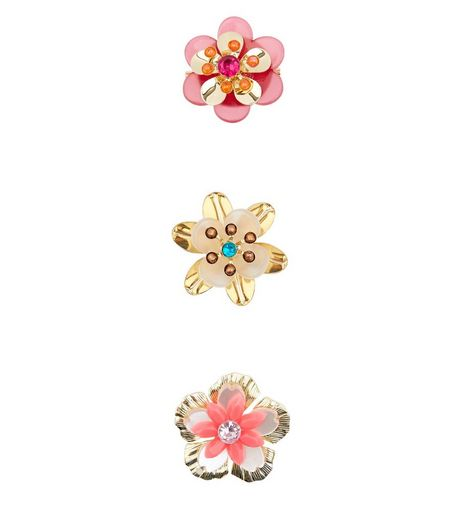3 Pack Pink Floral Brooches | New Look