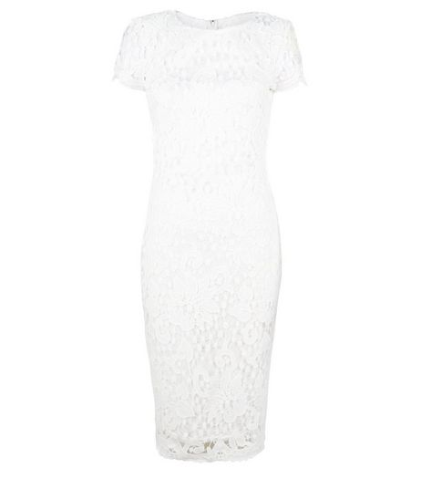 AX Paris Cream Crochet Lace Midi Dress | New Look