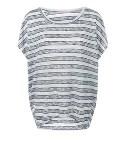 Blue Vanilla Blue Stripe Oversize Top | New Look