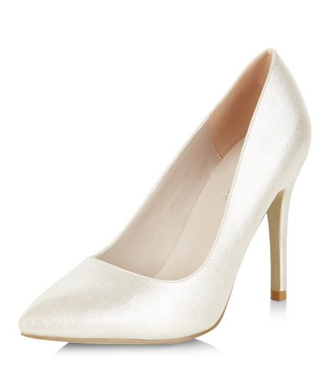 Gold Shimmer Pointed Heels  | New Look