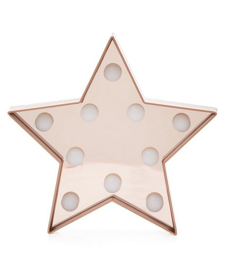 Pink LED Lights Star Plaque  | New Look