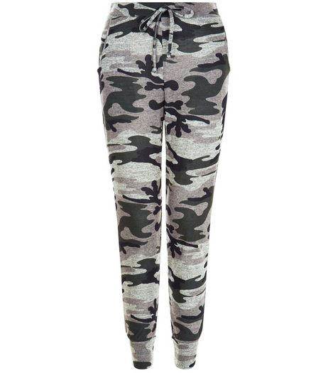Cameo Rose Green Camo Print Joggers | New Look