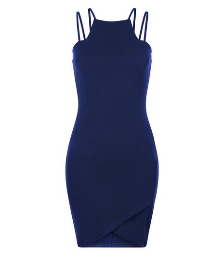 AX Paris Navy Strappy Bodycon Dress | New Look